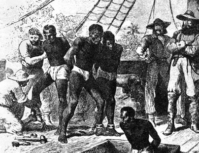 Depiction of the Atlantic slave trade
