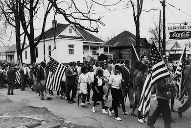 A civil rights march in Alabama