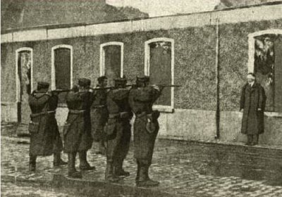 A Supposed World War I Firing Squad