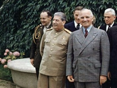 Harry Truman and Joseph Stalin, Potsdam 1945